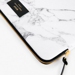"Pochette laptop ""White marble"" Wouf"