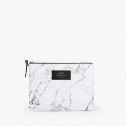 "Pochette - gm ""Withe marble"" Wouf"
