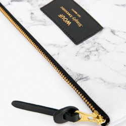 """Pochette - gm """"Withe marble"""" Wouf"""