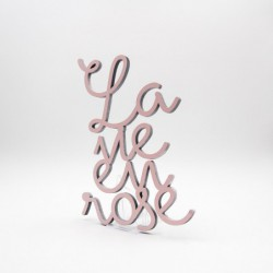 "Message 3D ""la vie en rose"" 01"