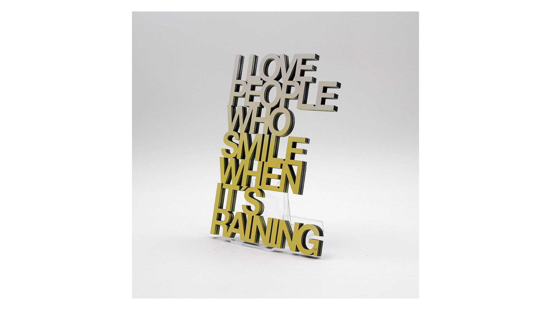 "Message 3D ""i love people who"""