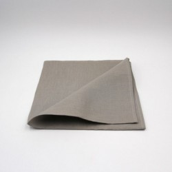 Serviette de table en lin - taupe - Chilewich