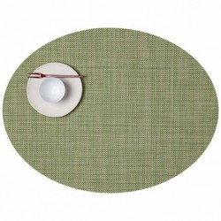"Set de table - vert aneth ""basketweaves ovale"" Chilewich"