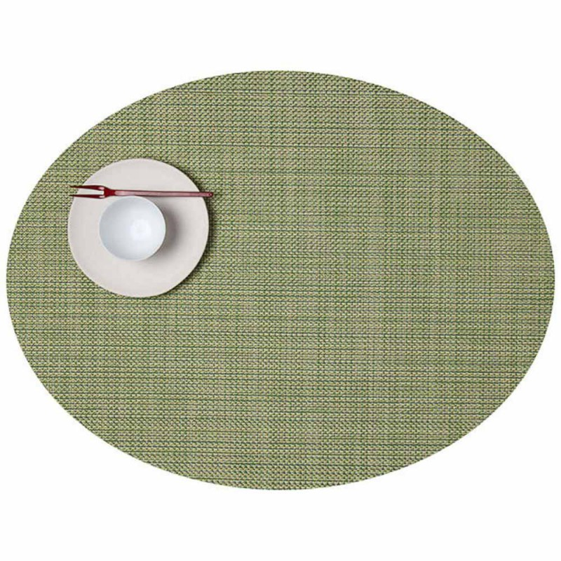 """Set de table - vert aneth """"basketweaves ovale"""" Chilewich"""