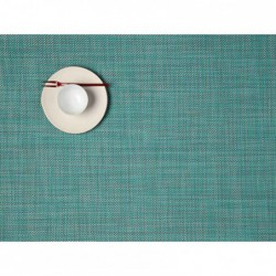 "Set de table - turquoise ""basketweaves rectangle"" Chilewich"