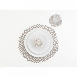 "Set de table - gunmetal ""dahlia floral"" Chilewich"