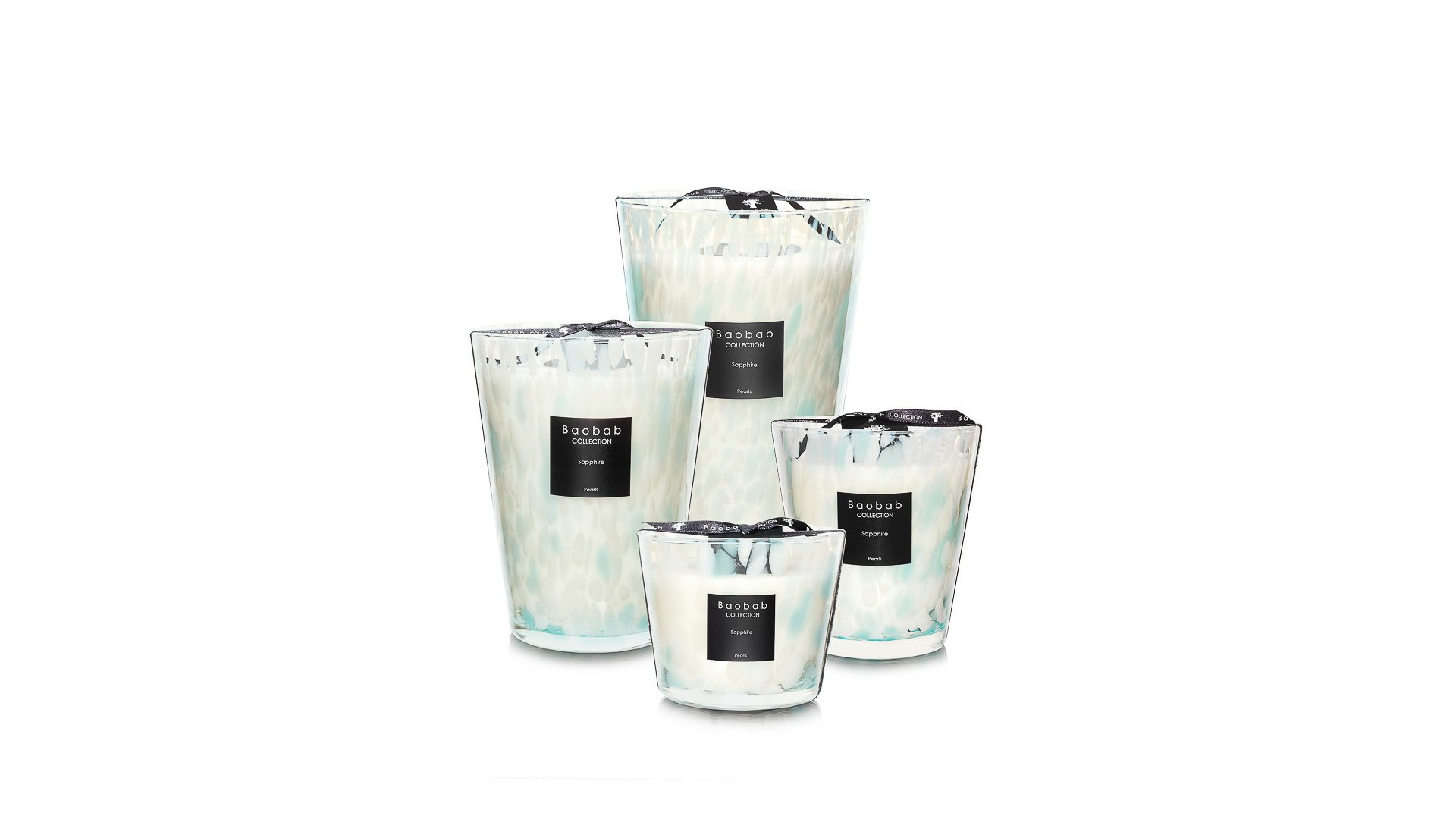 "Bougie parfumée ""pearls-sapphire"" Baobab Collection"