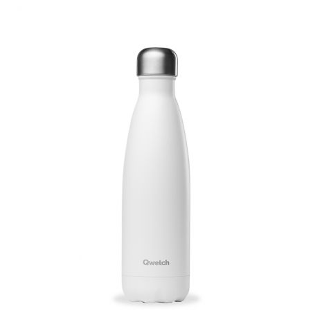 """Bouteille isotherme """"Mat"""" blanc"""
