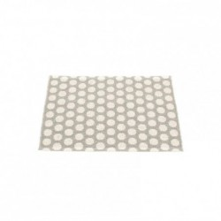 "tapis pappelina ""noa"" gris - vanille - bord moutarde"