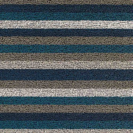 "tapis chilewich ""shag even stripe"" marine"