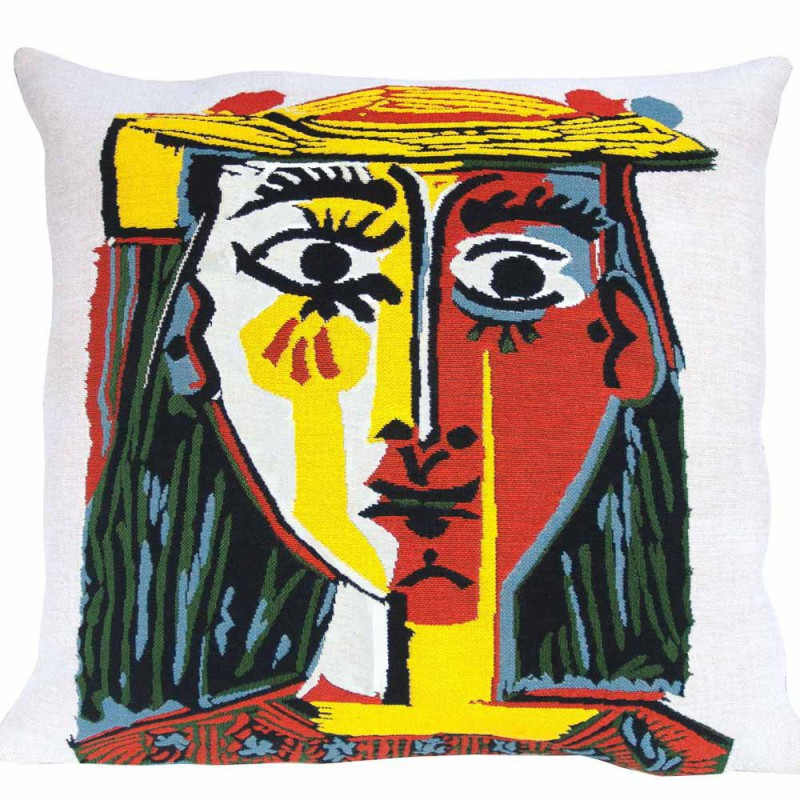 """Coussin Pansu """"Head of a woman with hat 1962"""" Picasso"""