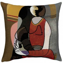 "Coussin Pansu ""Femme assise..."